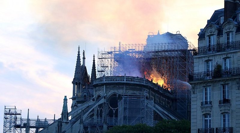 Notre Dame Cathedral fire in Paris, France. Photo Credit: Cangadoba, Wikimedia Commons.