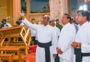 Sri Lanka's President Maithripala Sirisena visited the recently bombed St. Sebastian's Church. Photo Credit: Sri Lanka government