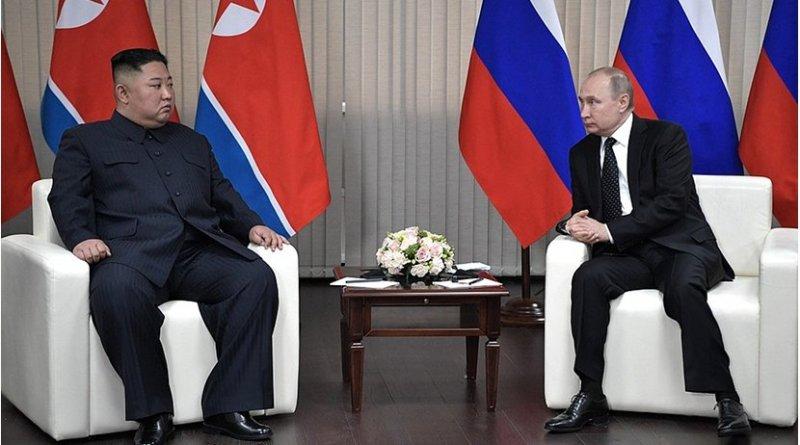 North Korea's Kim Jong-un with Russia's Vladimir Putin. Photo Credit: Kremlin.ru