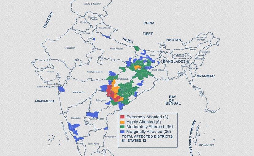 LWE: Conflict Map 2019. Credit: SATP