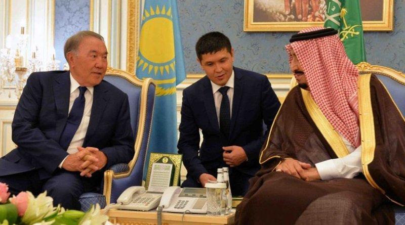 Kazakhstan President Nursultan Nazarbayev with Saudi Arabia's King Abdullah bin Abdulaziz Al Saud. Photo Credit: Kazak Foreign Ministry