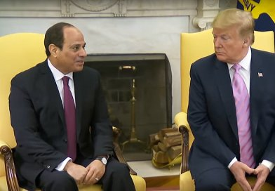 Egyptian President Abdel Fattah al-Sisi and US President Donald Trump. Credit: Screenshot of White House video