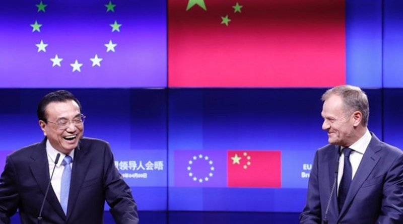 Li Keqiang, Prime Minister of China; Donald Tusk, President of the European Council, speak to reporters after the EU-China summit, on Tuesday (9 April). Photo Credit: European Council