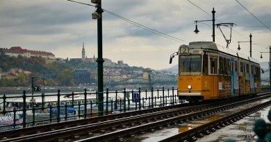 Tram in Budapest, Hungary