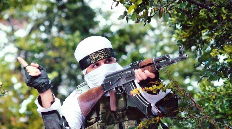 A Katibat Imam al Bukhari (KIB) militant.