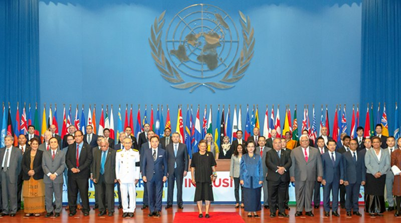 Group photo of the United Nations Economic and Social Commission for Asia and the Pacific (ESCAP) in its 75th session in Bangkok