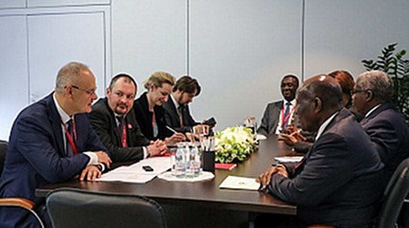 On the sidelines of the St. Petersburg International Economic Forum (SPIEF-19), the Adviser to the President of the Russian Federation, Anton Kobyakov, held bilateral meeting with Vice-President of the Republic of Cote d'Ivoire, Daniel Kablan Duncan.