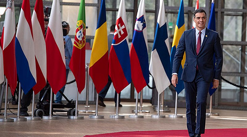 Spanish PM, Pedro Sánchez, arriving to the European Council for the informal dinner of heads of state or government in Brussels, 28 May 2019. Photo: Moncloa (CC BY-NC-ND 2.0)