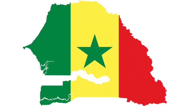 senegal flag map