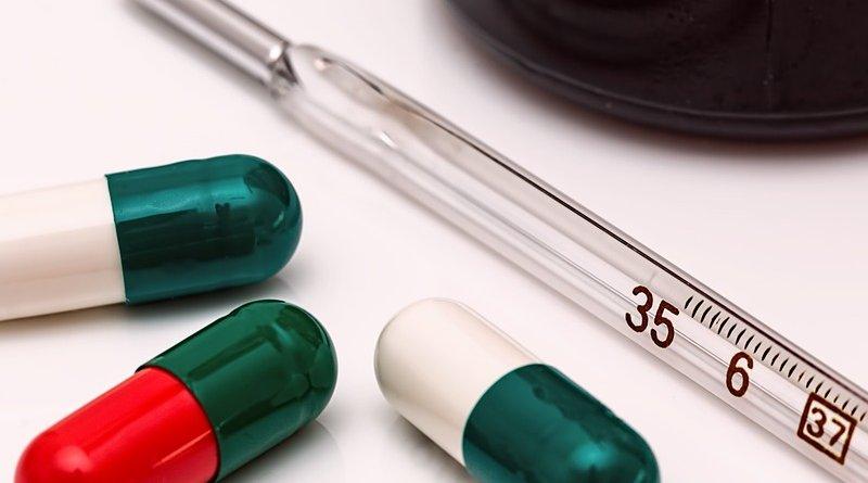 antibiotics pills temperature flu thermometer