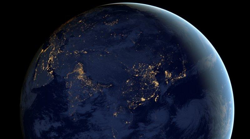 Asia at night. Photo Credit: NASA