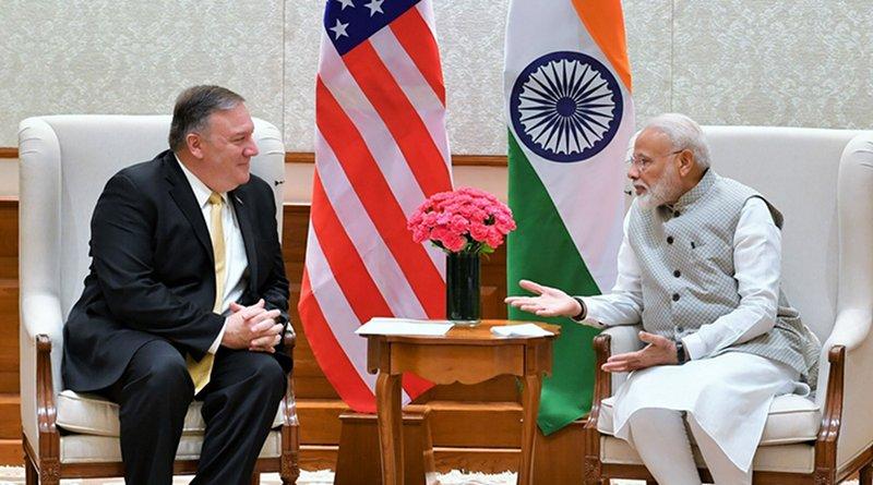 US Secretary of State, Mr. Michael R. Pompeo meeting India's Prime Minister, Shri Narendra Modi, in New Delhi . Photo Credit: India Prime Minister Office
