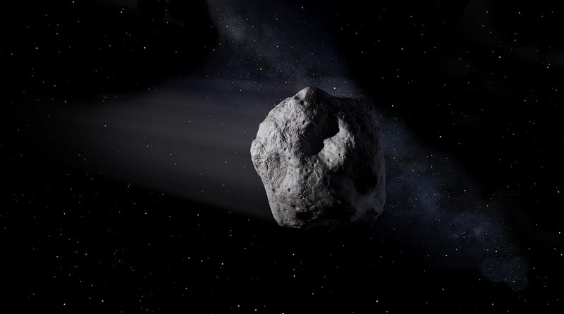 This is an artist's concept of a near-Earth object. Credit NASA/JPL