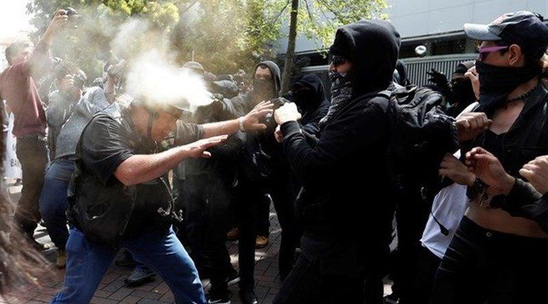 Antifa protestors. Photo Credit: Tasnim News Agency