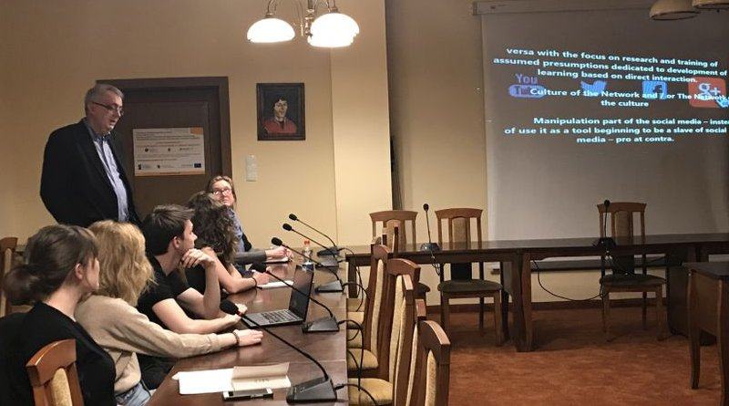 Prof. Sabahudin Hadžialić, together with his students of the Faculty of Educational Sciences during spring semester lectures of the 2018/2019 Academic year at Nicolaus Copernicus University, Torun, Poland