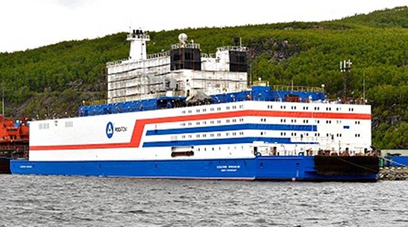 Russia's floating nuclear power plant Akademik Lomonosov. Photo Credit: Rosenergoatom