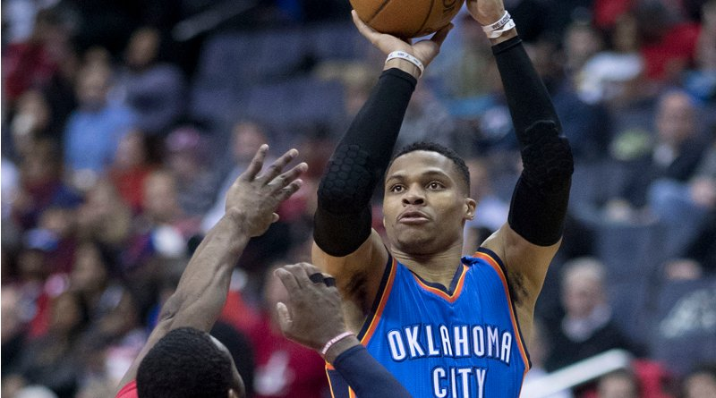 Russell Westbrook. Photo Credit: Keith Allison, Wikipedia Commons.
