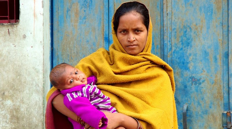 India mother woman baby