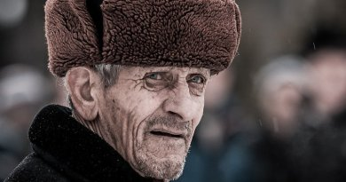 elderly russia man