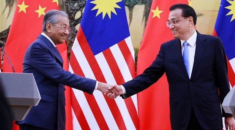 Malaysian Prime Minister Mahathir Mohamad and China's Premier Li Keqiang. File Photo: Tasnim News Agency