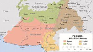 Major Ethnic Groups of Pakistan. Source: Wikimedia Commons