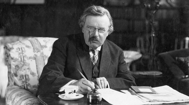G. K. Chesterton. Photo Credit: Unknown, Wikipedia Commons.