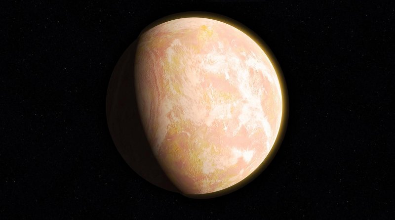 The young Earth's atmosphere might have looked like this artist's interpretation -- a pale orange dot. Credit NASA/GSFC/F. Reddy