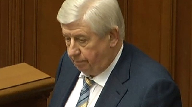 Ukraine's Viktor Shokin. Photo Credit: STRC Ukrainian television and radio broadcasting, Wikipedia Commons