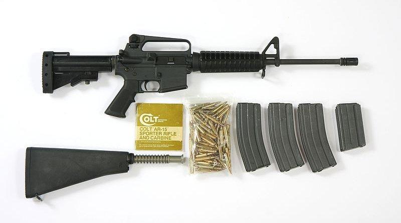Pre-ban Colt AR-15 Sporter Lightweight rifle. Photo Credit: Steve Rainwater, Wikipedia Commons