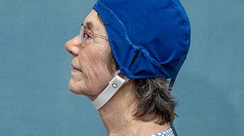 This is a patient wearing MemorEM. Credit NeuroEM Therapeutics, Inc.