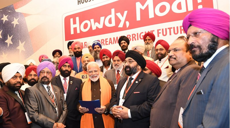 The Prime Minister, Shri Narendra Modi interacting with the Indian community, in Houston, USA on September 21, 2019. Photo Credit: India PM Office