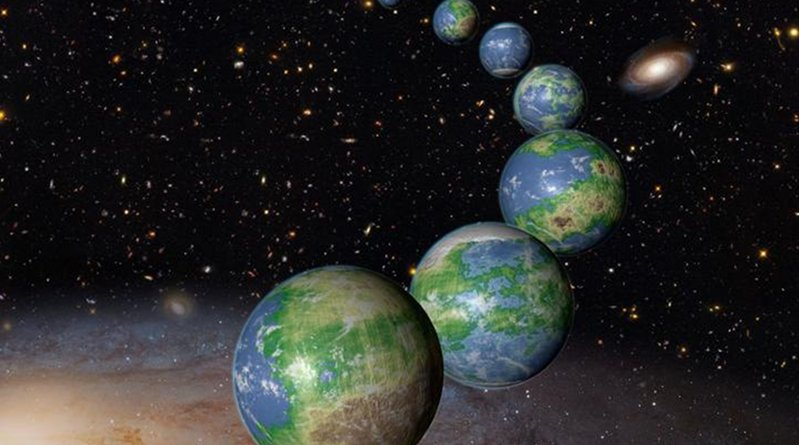 An artist's conception of Earth-like planets Credit NASA/ESA/G. Bacon (STScI)