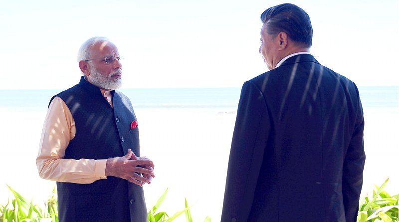 India's Prime Minister, Shri Narendra Modi with the President of the People's Republic of China, Mr. Xi Jinping, in Mamallapuram, Tamil Nadu on October 12, 2019. Photo Credit: India PM Office