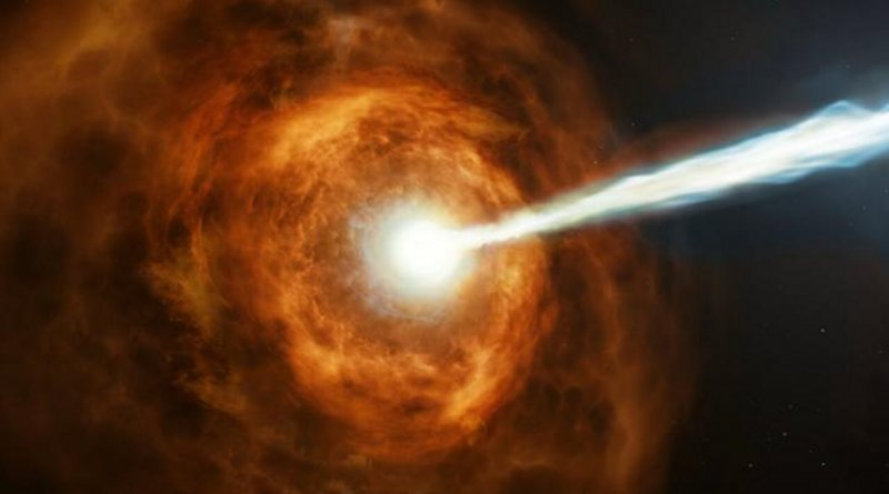 New observations from the NASA/ESA Hubble Space Telescope have investigated the nature of the powerful gamma-ray burst GRB 190114C by studying its environment. CREDIT ESA/Hubble, M. Kornmesser