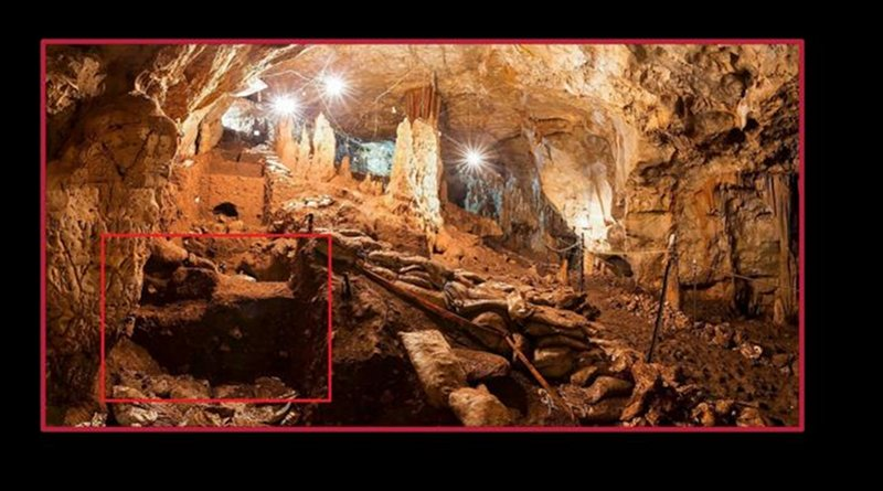 A view of Manot cave and a close up of the area where some of the teeth were found. Credit Prof. Israel Hershkovitz/American Friends of Tel Aviv University.