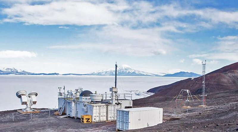 The Atmospheric Radiation Measurement (ARM) Mobile Facility (AMF2) was deployed to McMurdo Station, Antarctica, as part of a 14-month field campaign to gather sophisticated data with cloud radars and high spectral resolution lidar, and a complete aerosol suite. CREDIT US Department of Energy Atmospheric Radiation Measurement (ARM) user facility
