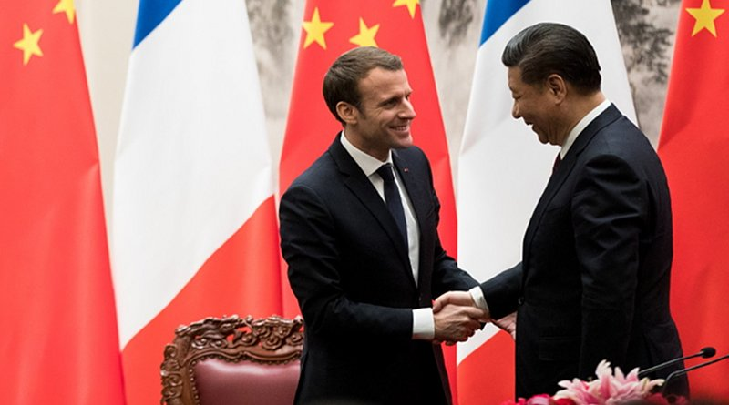 French President Emmanuel Macron and Chinese President Xi Jinping. Photo Credit: Elysee