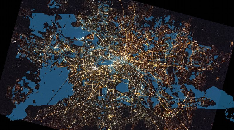 The areas of the city that the bats prefer to hunt | Voigt