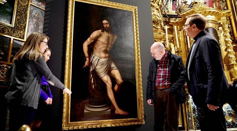 Researchers have restored the painting 'Christ tied to the column', whose author is said to be Nicolás Borrás