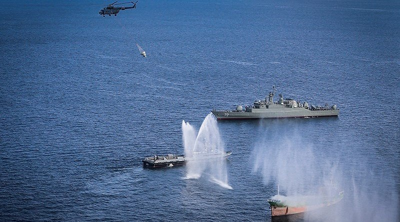 Iran, Russia and China hold joint naval exercise. Photo Credit: Tasnim News Agency