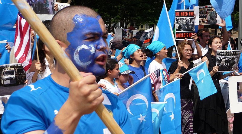 Uyghur demonstration in Washington, D.C. Photo Credit: Malcolm Brown, Wikipedia Commons