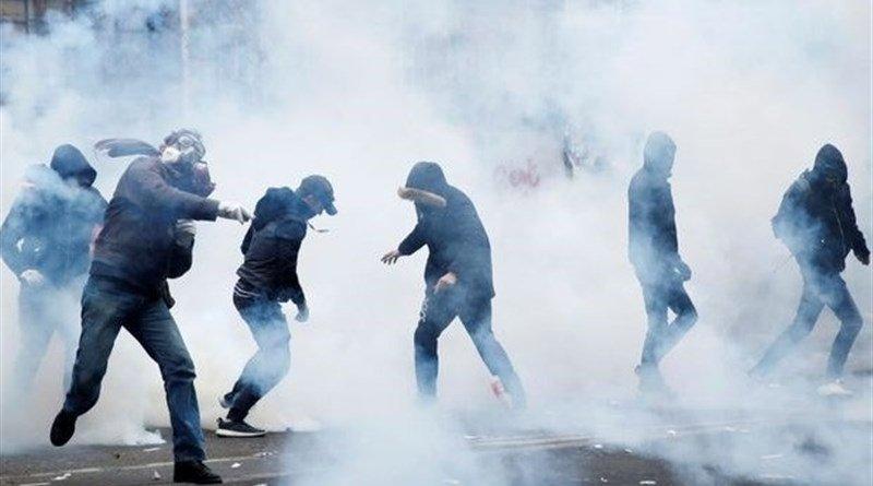 Protests in France. Photo Credit: Tasnim News Agency