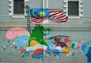 malaysia flag graffiti