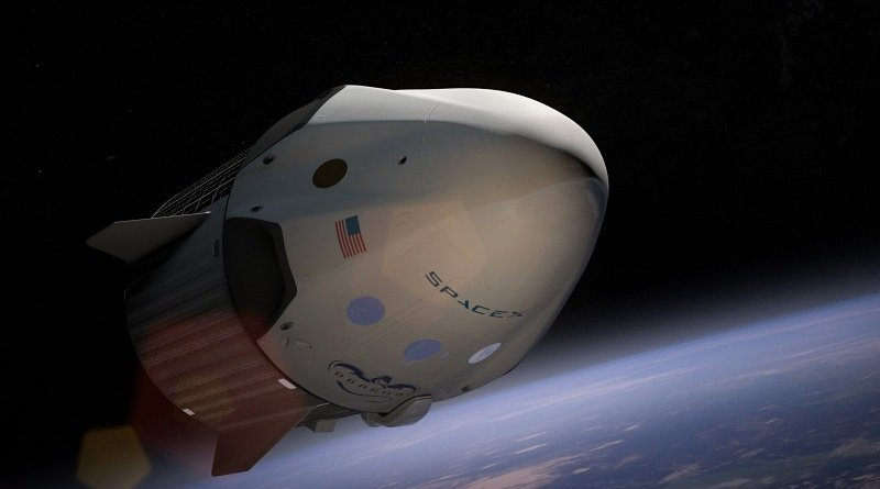 spacex spaceship satellite outer space