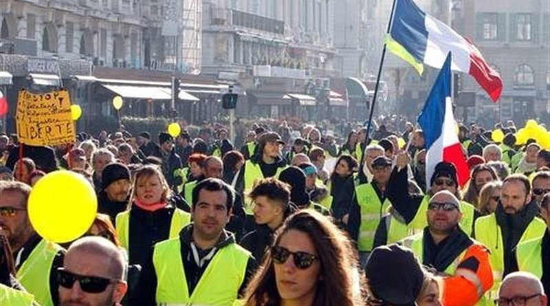 Yellow Vests protests in France. Photo Credit: Tasnim News Agency