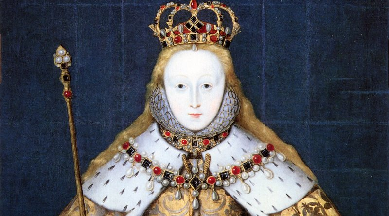 Elizabeth I of England in coronation robes. Source: National Portrait Gallery, Wikimedia Commons
