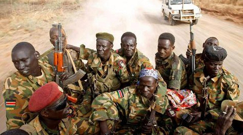 Soldiers in South Sudan (Twitter)