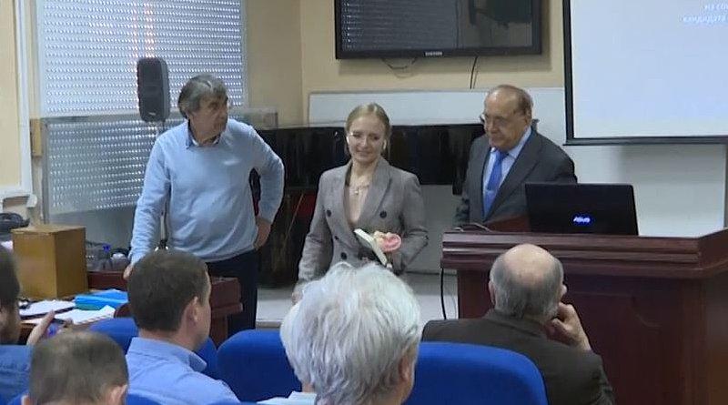 Katerina Tikhonova. Photo Credit: Screenshot Current Time TV