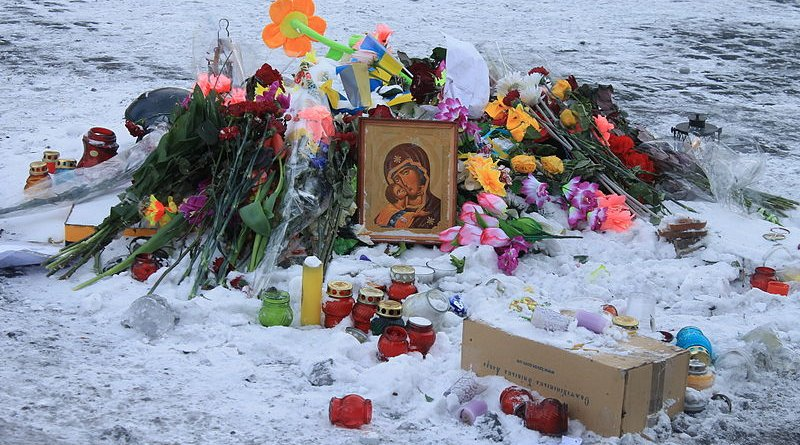 Memorial for killed Euromaidan participants in Ukraine. Photo Credit: A1, Wikimedia Commons