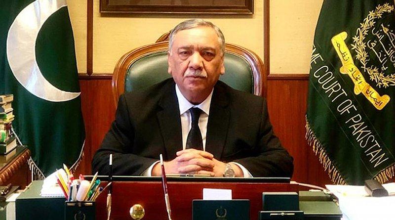 Pakistan Supreme Court Chief Justice Asif Saeed Khan Khosa. Source: Supreme Court of Pakistan.